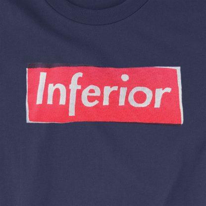 t-shirt inferior blue close