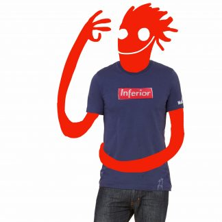 t-shirt inferior blue guy