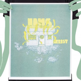 Risograph Print Haus Green Guy