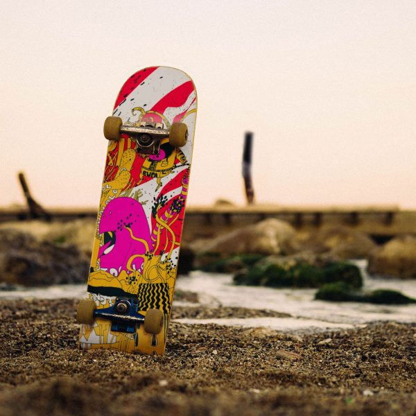 King skateboard deck beach