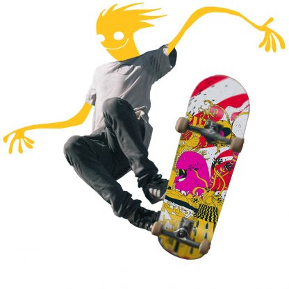King skateboard deck fly high 5
