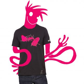 t-shirt SPLUV vintage black pink guy